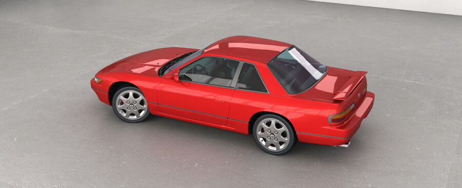 Nissan Silvia S13 1992 royalty-free 3d model - Preview no. 8
