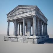 Grekiskt tempel 3d model