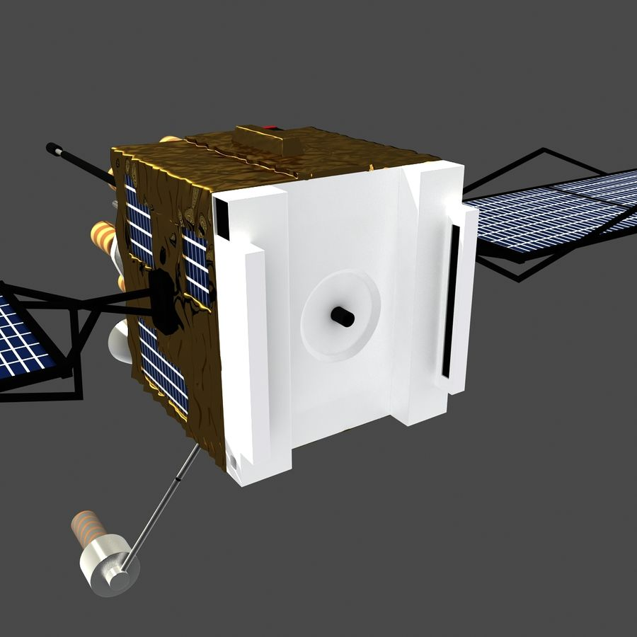 Satellite royalty-free 3d model - Preview no. 5