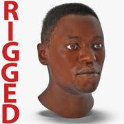 アフリカ系アメリカ人男性の髪の毛のリグ2 3Dモデル 3d model