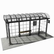 公交车站 3d model