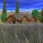 Craftsman Country House Scene 3d model