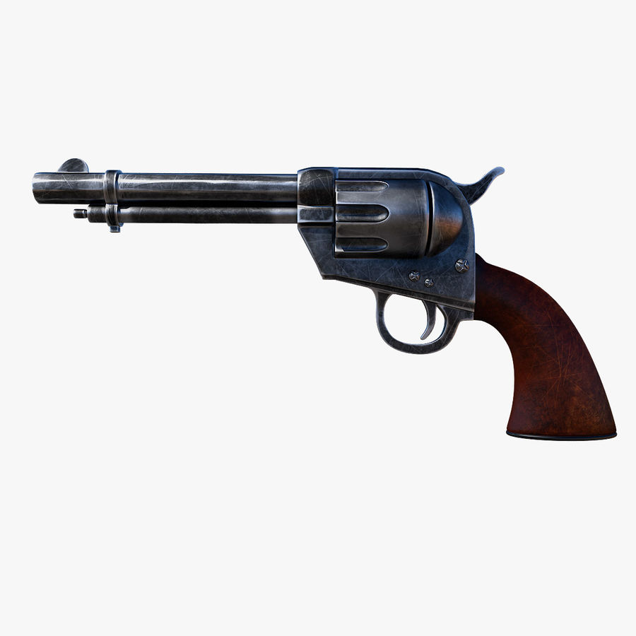 Revolver Colt Peacemaker royalty-free 3d model - Preview no. 3