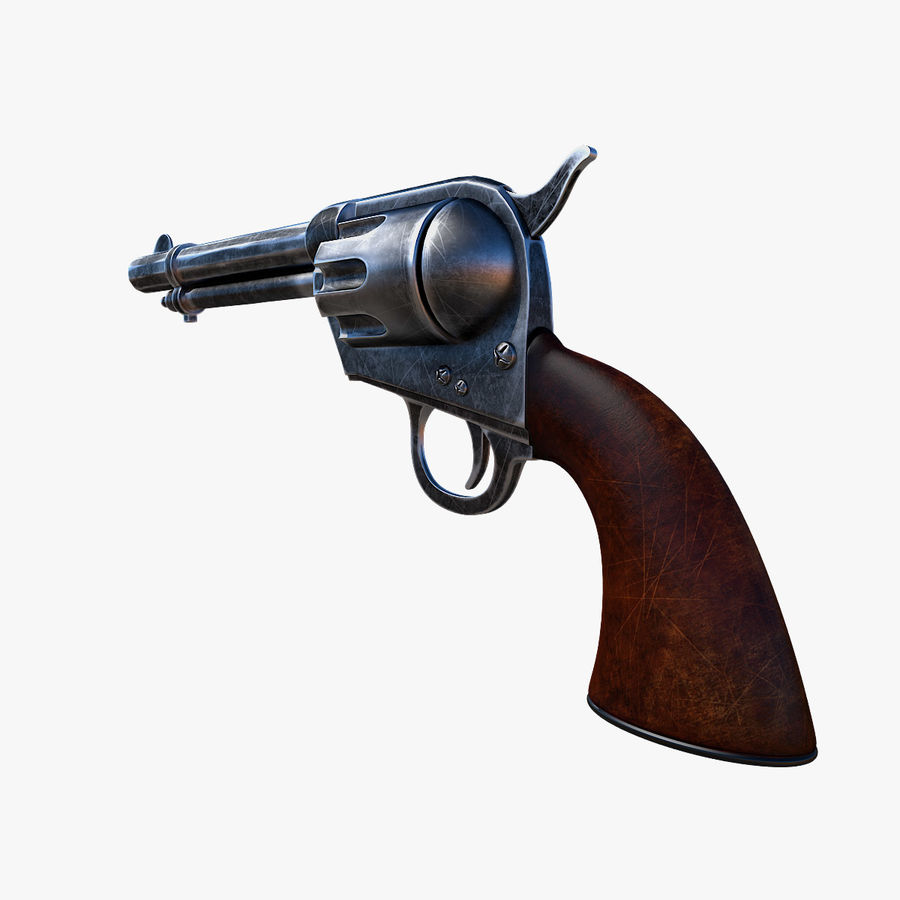 Revolver Colt Peacemaker royalty-free 3d model - Preview no. 2