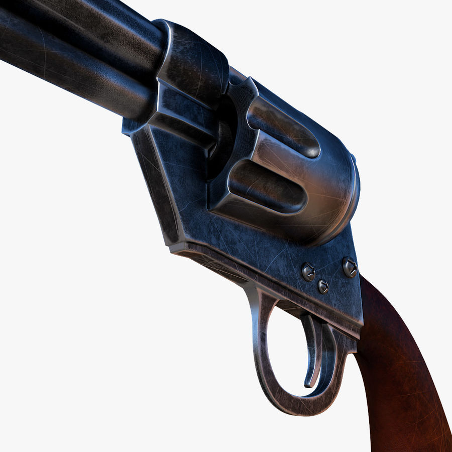 Revolver Colt Peacemaker royalty-free 3d model - Preview no. 4