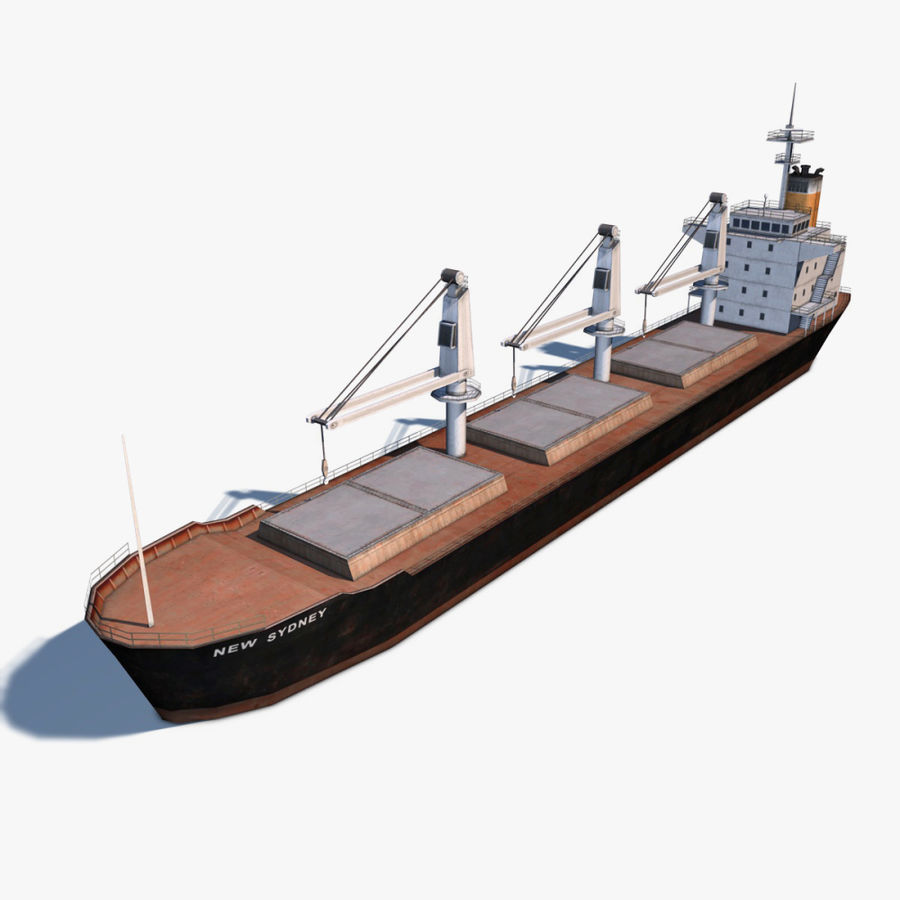 Bulk Carrier royalty-free 3d model - Preview no. 1
