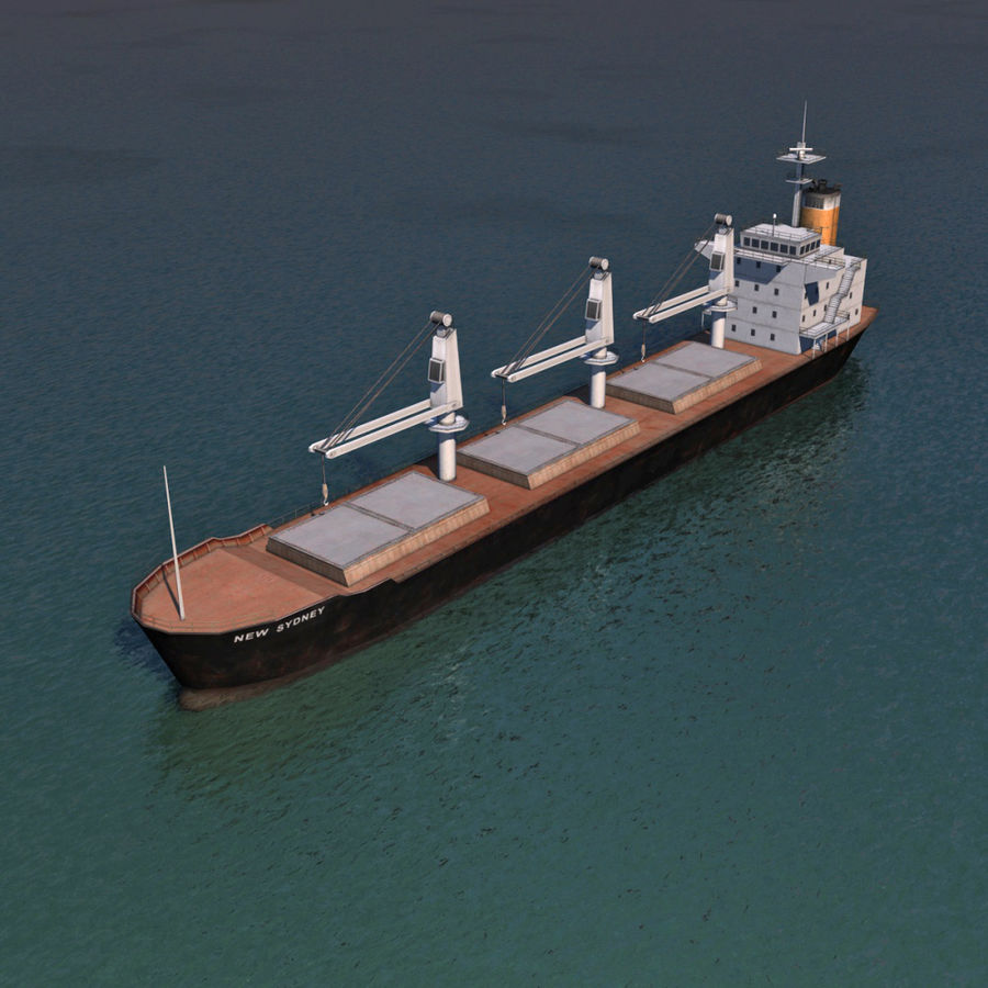 Bulk Carrier royalty-free 3d model - Preview no. 2