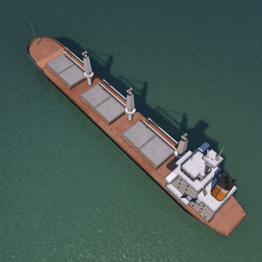 Bulk Carrier royalty-free 3d model - Preview no. 4