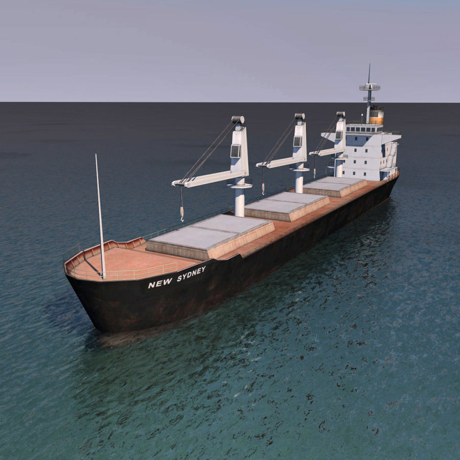 Bulk Carrier royalty-free 3d model - Preview no. 5