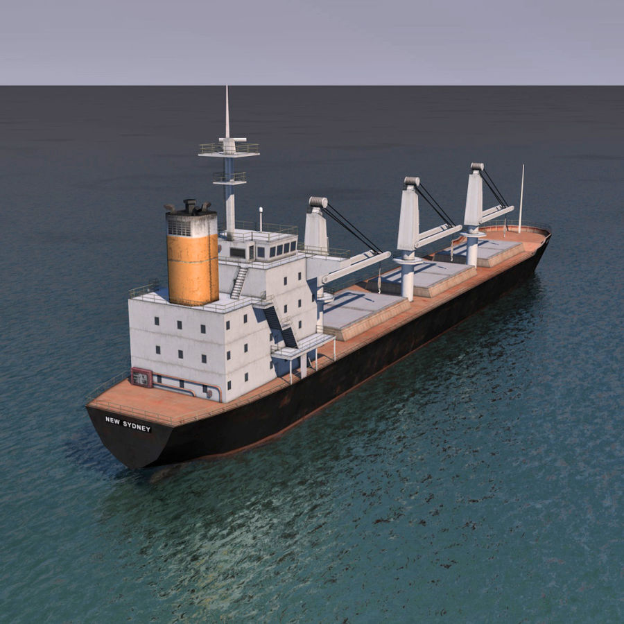 Bulk Carrier royalty-free 3d model - Preview no. 7