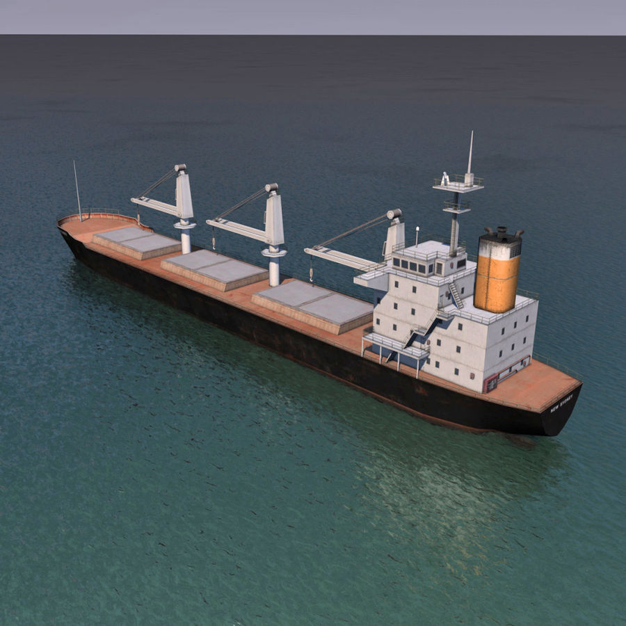 Bulk Carrier royalty-free 3d model - Preview no. 3
