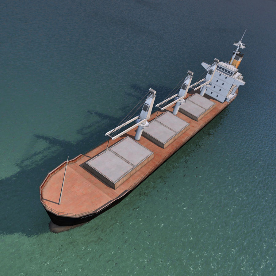 Bulk Carrier royalty-free 3d model - Preview no. 6