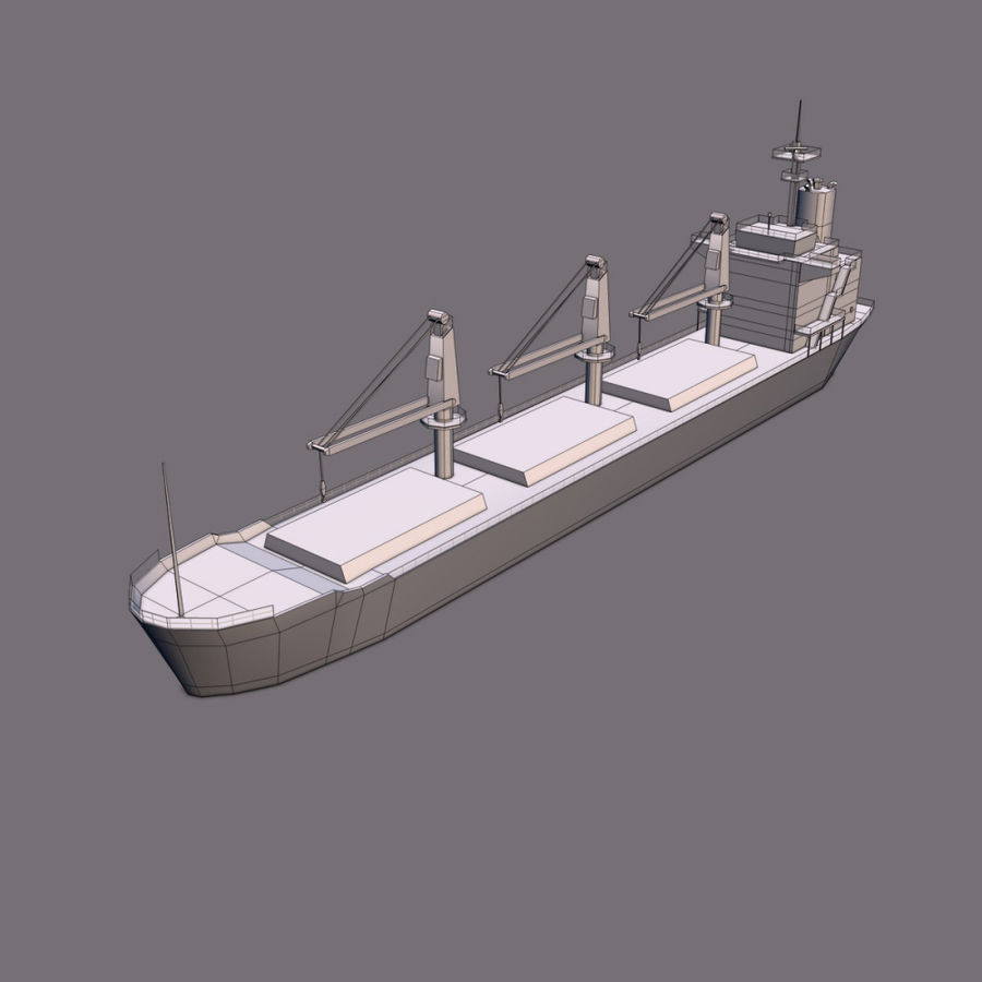 Bulk Carrier royalty-free 3d model - Preview no. 8