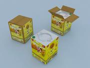 食用油缶 3d model