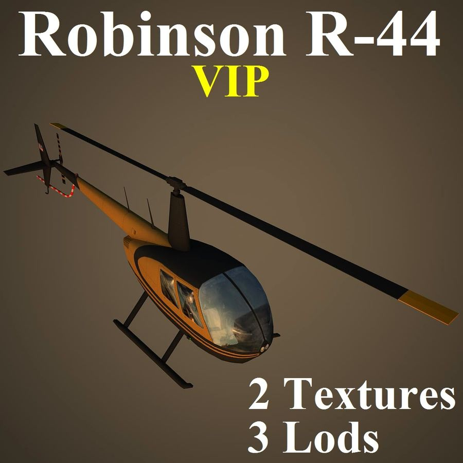 R44 VIP royalty-free 3d model - Preview no. 1