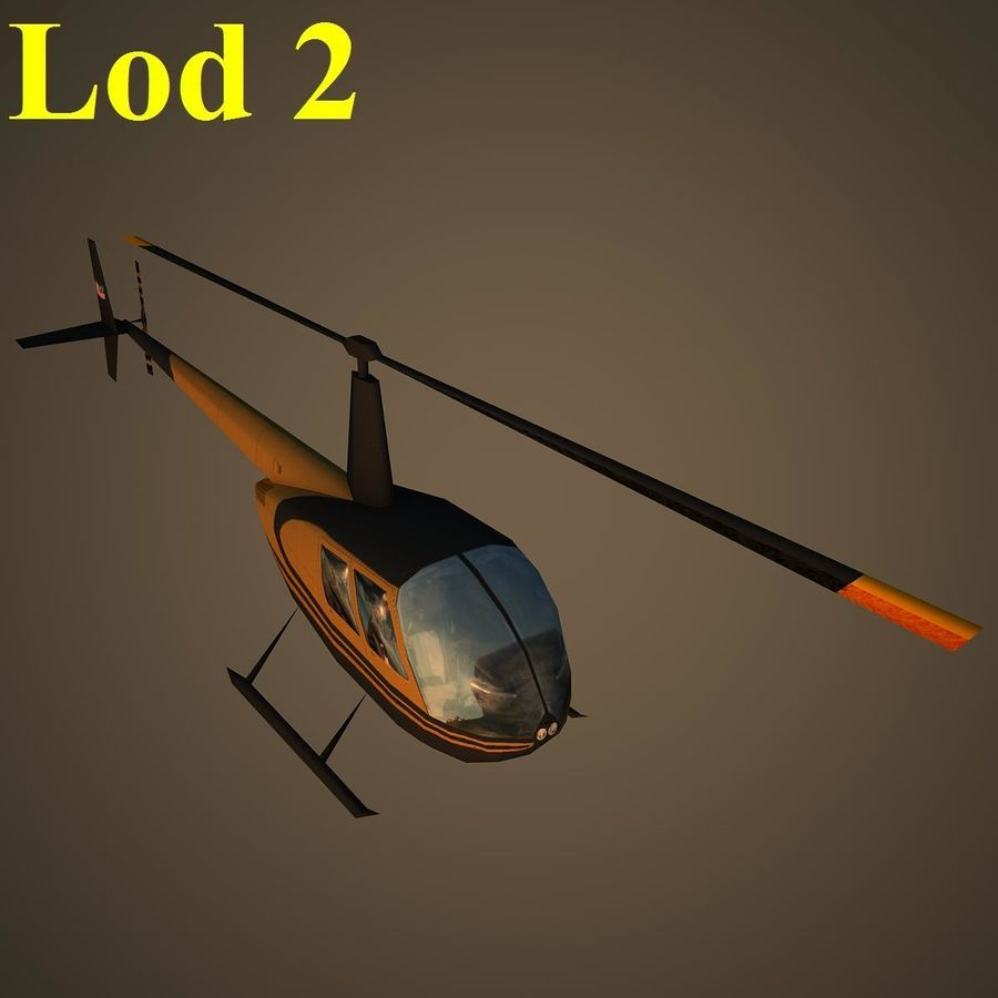 R44 VIP royalty-free 3d model - Preview no. 15