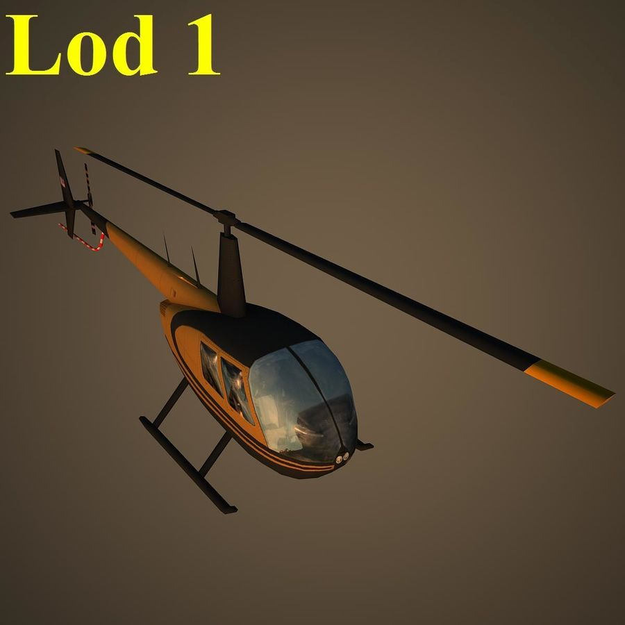 R44 VIP royalty-free 3d model - Preview no. 14