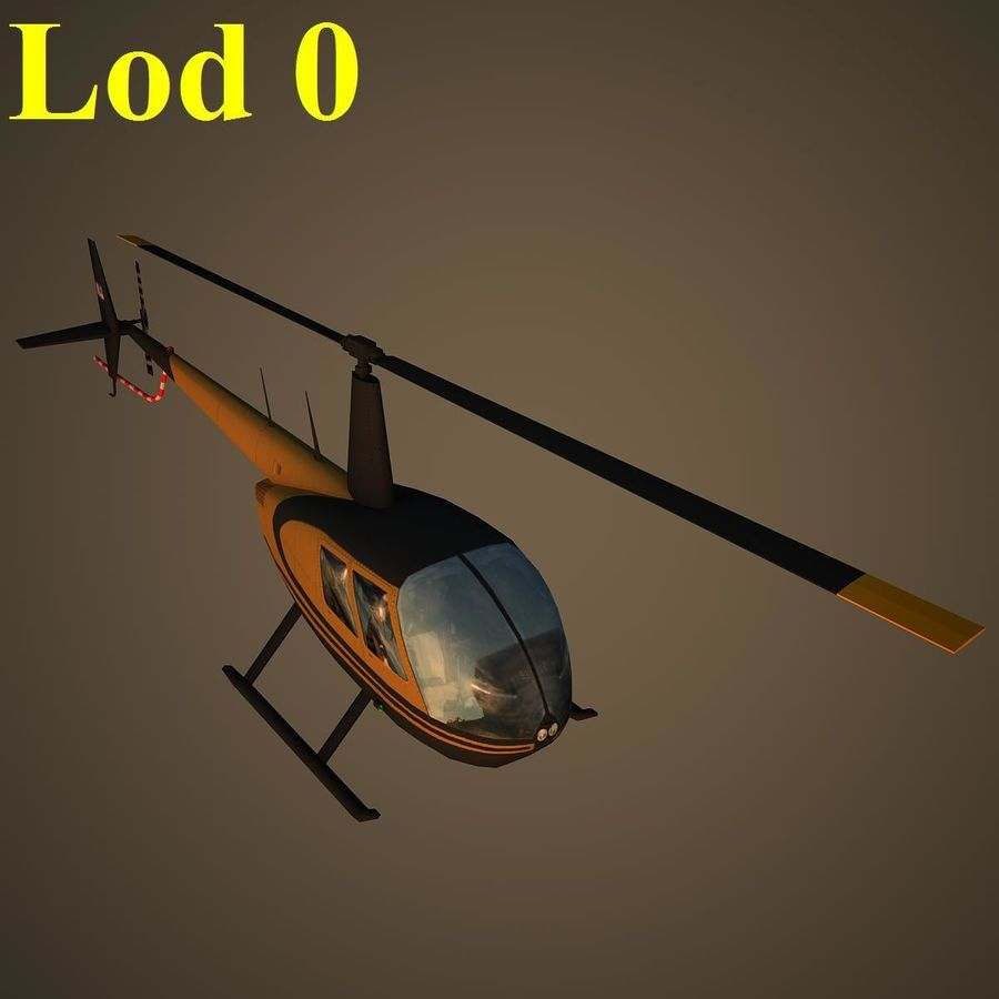R44 VIP royalty-free 3d model - Preview no. 13
