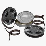 Set di modelli 3D di bobine di film video 2 3d model