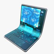 Hologram Laptop 3d model