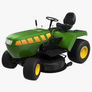 Gräsmatta traktor riggad 3D-modell 3d model