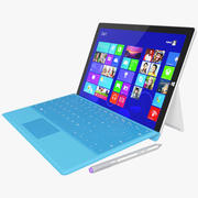 Microsoft Surface 3 + Touch Cover 3d model