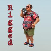 fat tourist 3d model