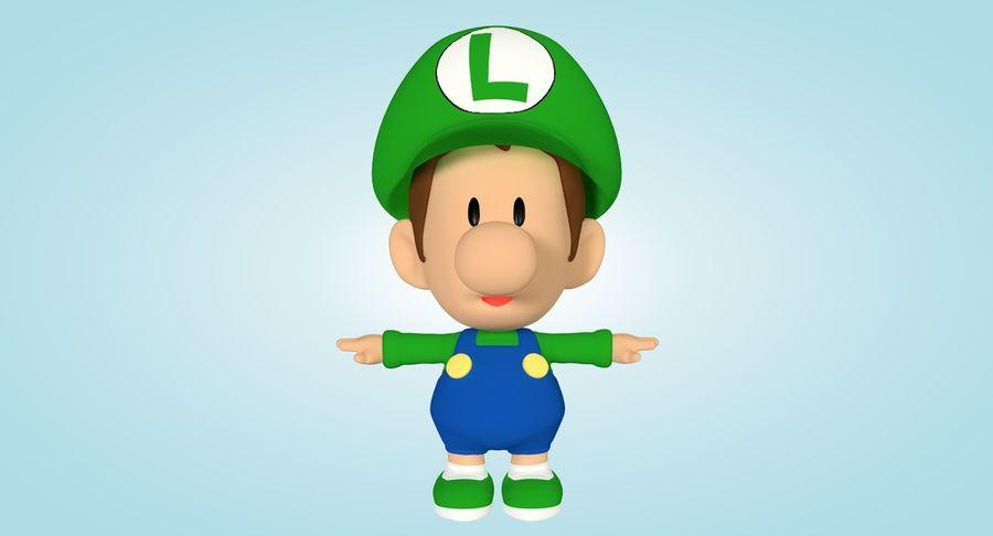 Baby Luigi Bros royalty-free 3d model - Preview no. 4