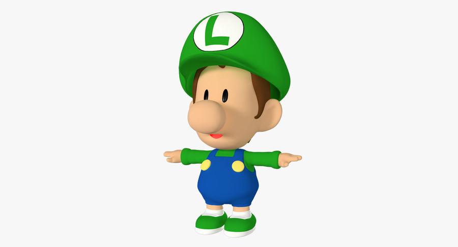 Baby Luigi Bros royalty-free 3d model - Preview no. 2