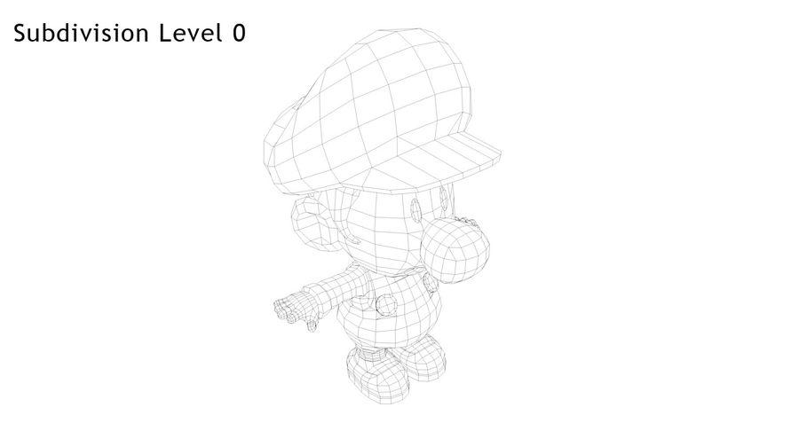 Baby Luigi Bros royalty-free 3d model - Preview no. 13