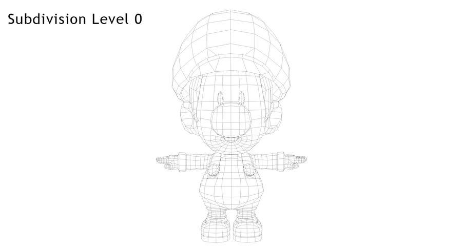 Baby Luigi Bros royalty-free 3d model - Preview no. 11