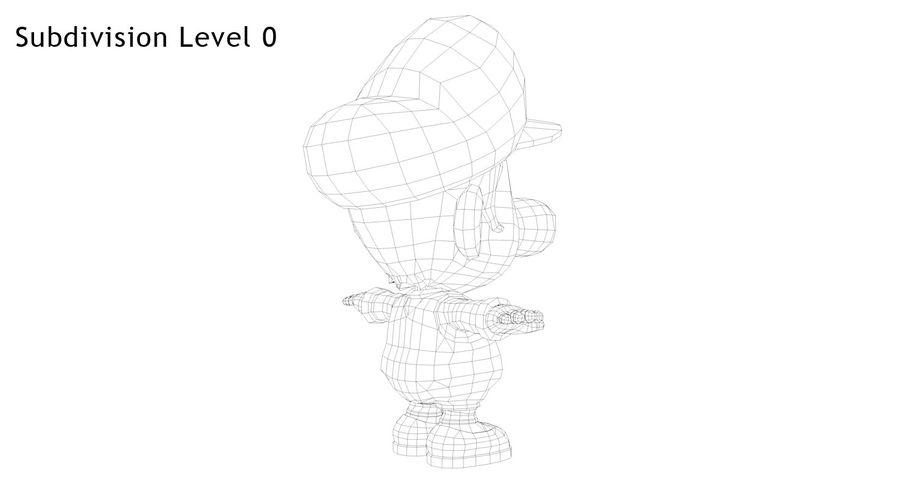 Baby Luigi Bros royalty-free 3d model - Preview no. 15