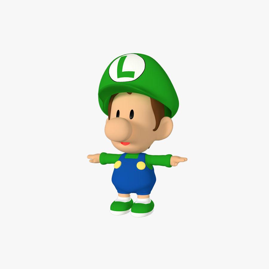 Baby Luigi Bros royalty-free 3d model - Preview no. 1