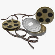 Video Filmrolle Set 4 3d model