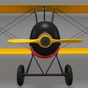 加巴迪尼双翼飞机 3d model