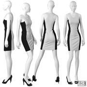 Vitrine Femme Mannequin 091 3d model