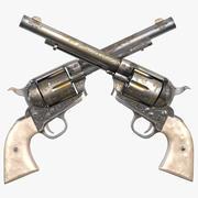左轮手枪 3d model