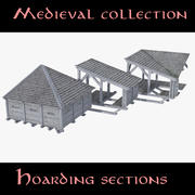 Collection Hoarding Sections 3d model