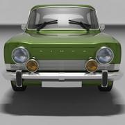 Simca 1000 Automodell 3d model