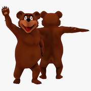 Urso dos desenhos animados 3d model