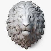 Lion Head Sculpture Calm 3d model