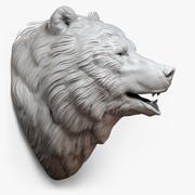 Escultura de cabeza de oso modelo 3d