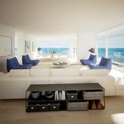 Salon avec vue sur la mer 3d model