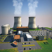 Nuclear Power Plant Station 3d model