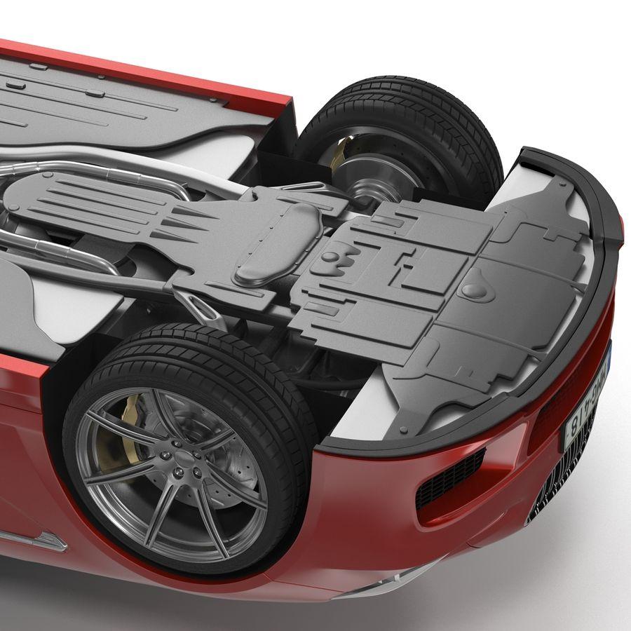 Generic Sedan royalty-free 3d model - Preview no. 13