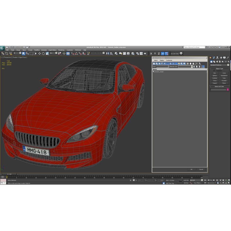 Generic Sedan royalty-free 3d model - Preview no. 34