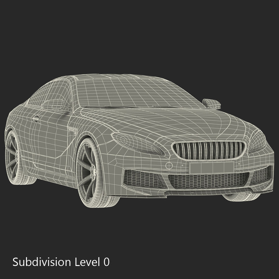 Generic Sedan royalty-free 3d model - Preview no. 30