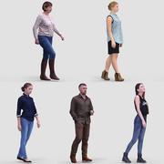3D人体模型Vol.1休闲行走的人 3d model