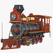 Steam Train Locomotive 3d model