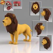 Cartoon leeuw 3d model